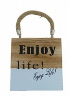 ENJOY LIFE  SHABBY CHIC WOODEN HANGING SIGN.....